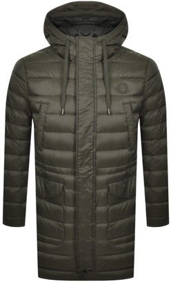 Armani Exchange Quilted Down Trench Jacket Green