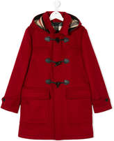 Burberry hooded duffle coat