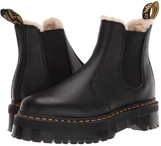 Dr. Martens 2976 Platform Faux-Fur Lined (Black) Boots