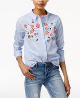 Endless Rose Embroidered Cotton Shirt