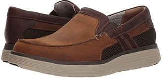 Clarks UnAbode Free (Light Tan Leather) Men's Slip on Shoes