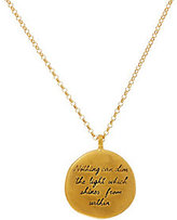 "Dogeared Maya Angelou ""The Light"" 14K Gold Plated Quote Pendant"