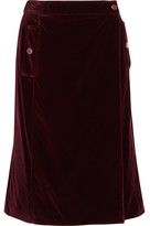 Vanessa Seward Aydee Cotton-Blend Velvet Wrap Skirt