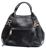 Marc Jacobs Black Gold Pebble Leather Anchor Shoulder Bag Purse