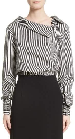 Altuzarra Asymmetrical Pinstripe Shirt