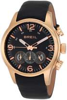 Breil Milano Men's Watch TW0775 Chronograph Black Dial Leather Band