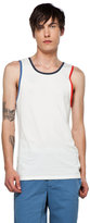 This is Not a Polo Shirt by band of outsiders Tank in Optic White Pique/Red/Navy/Blue Trim