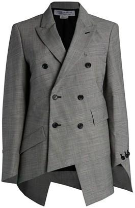 Comme des Garçons Comme des Garçons Glen Check Wool-Blend Spiral Jacket