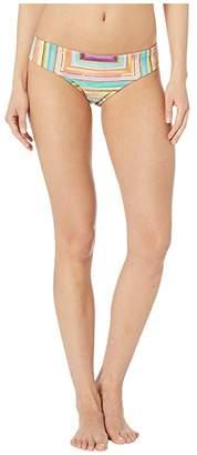 Luli Fama Heat Waves Tab Side Full Back Bottoms (Multi) Women's Swimwear