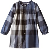Burberry Long Sleeve Dress with Pleats Girl's Dress