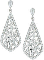 FANTASIA Woven Pave Crystal Drop Earrings