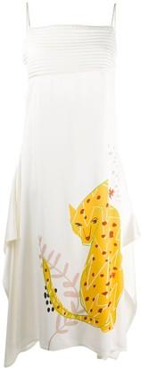 Ports 1961 Drawn-Tiger Sleeveless Dress