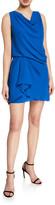Halston Cowl-Neck Sleeveless Draped Dress
