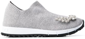 Jimmy Choo Verona crystal-embellished sneakers