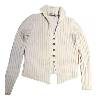 Brunello Cucinelli White Cashmere Knitwear
