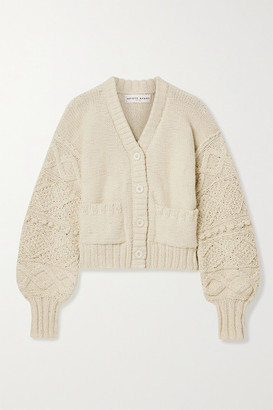 Apiece Apart Jacinta Cropped Cotton Cardigan - Ecru