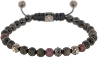 Shamballa Ruby and Grey Sapphire Bead Bracelet