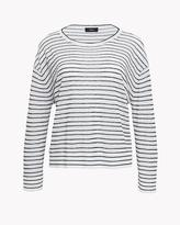 Theory Textured Stripe Sweater