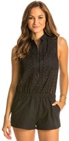 Red Carter Neo Bohemia Eyelet Cover Up Romper 8134580