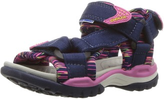 Geox J BOREALIS GIRL A Girls' Heels Sandals Open Toe Sandals Blue (Navy/Fuchsia C4268) 12.5 UK (31 EU)