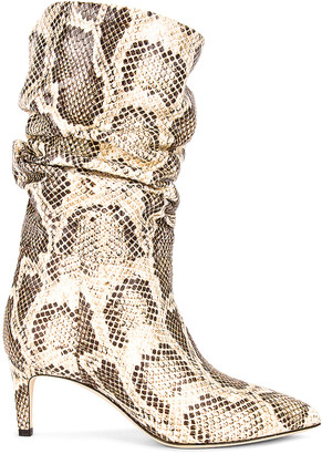 Paris Texas Python Print Slouchy Boot in Seppia | FWRD
