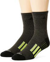 adidas Mens 2-pk. climalite Performance Short Crew Socks