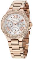 SO & CO So & Co Womens Rose Goldtone Strap Watch-Jp15195
