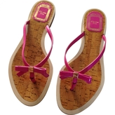 Christian Dior Pink Leather Sandals