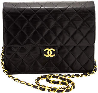 Chanel Black Quilted Leather Small Flap Chain Shoulder Bag