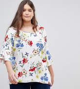 Koko Floral Bell Sleeve Blouse