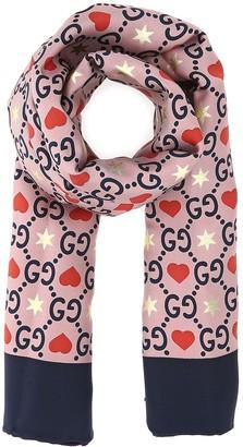 Gucci Heart Print Foulard