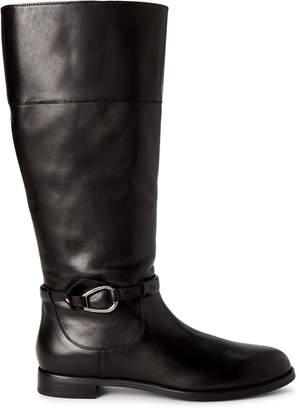 Lauren Ralph Lauren Black Harlee Tall Leather Boots
