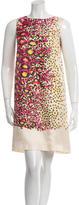 RED Valentino Silk Leopard Print Dress