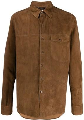 Ajmone Long Sleeve Leather Shirt