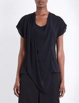 Chalayan Draped chiffon top