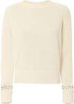 A.L.C. Dree Ring Detail Sweater Beige P