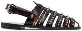 Christian Louboutin Black Studded Meloubiclou Flats