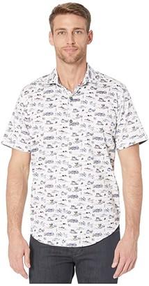 Robert Graham Throttle Button-Up Shirt (Blue) Men's Clothing