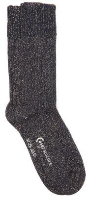Suicoke X Corgi Lame Cotton Socks - Navy Gold