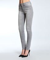 Mavi Jeans Light Gray Tribeca Super-Skinny Jeans - Petite
