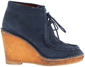Marc by Marc Jacobs Navy Suede Boots