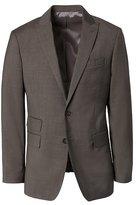 Banana Republic Slim Brown Solid Italian Wool Suit Jacket