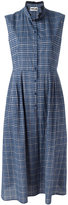 Hache high neck checked dress