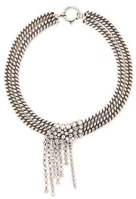 Isabel Marant Crystal-fringed Double-chain Necklace - Womens - Crystal