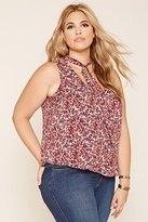 Forever 21 FOREVER 21+ Plus Size Floral Print Tank