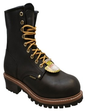 """AdTec Men's 9"""" Water Resistant Steel Toe Logger Boot Men's Shoes"""