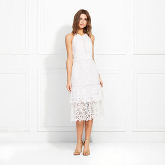 Rachel Zoe Annalise Guipure Lace Midi Dress