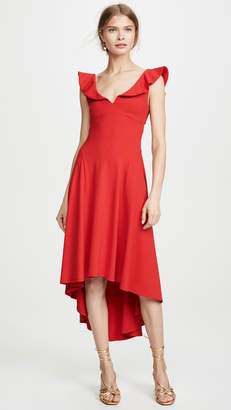 Susana Monaco Ruffle Strap Cutout Dress