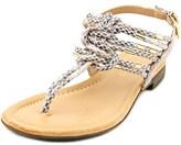 Report Gannon Women Open Toe Synthetic Thong Sandal.