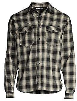 The Kooples Men's Long-Sleeve Plaid Shirt